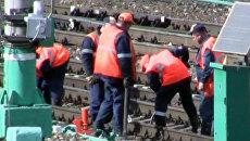 Пассажирский поезд и тепловоз столкнулись на Казанском вокзале в Москве