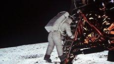 Высадка астронавта Эдвина Олдрина на Луну. Архивное фото