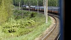 Движение поездов на Транссибе. Архивное фото