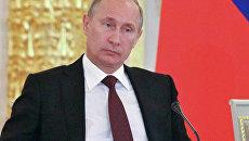 Президент России Владимир Путин на заседании Государственного совета в Кремле
