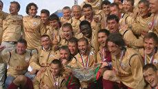 Футболисты Рубина ликовали, завоевав Суперкубок России по футболу