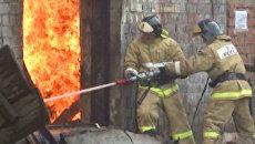 Крупный пожар на складе ГСМ в Иркутске. Кадры с места ЧП
