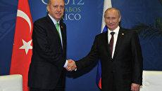 В.Путин встретился с Р.Эрдоганом