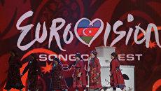 Бурановские бабушки на генеральной репетиции перед первым полуфиналом Евровидения 2012