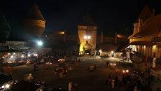 Ночь музеев в Тракайском замке (Литва)