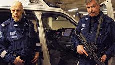 Финские полицейские на дежурстве. Архивное фото