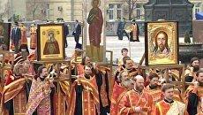LIVE: Патриарший молебен у Храма Христа Спасителя