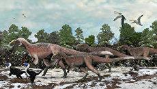 Самый прекрасный ящер Yutyrannus huali, обитавший на территории современного Китая примерно 125 миллионов лет назад
