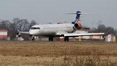 Самолет авиакомпании SAS в аэропорту Храброво. Архивное фото