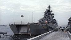 Ракетный крейсер Адмирал Нахимов. Архивное фото