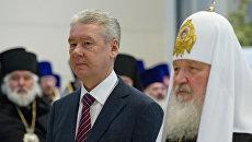 С.Собянин на церемонии проводов Пояса Пресвятой Богородицы