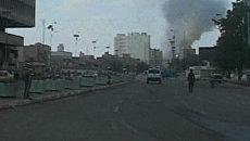 Столбы дыма над Багдадом указывают на место взрыва