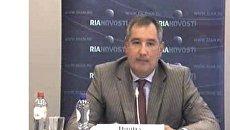 Видеоконференция постоянного представителя России при НАТО Дмитрия РОГОЗИНА