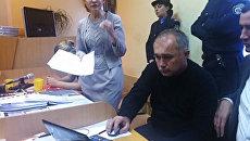 Юлия Тимошенко на заседании в Печерском районном суде Киева