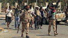 Ливийские повстанцы в Триполи 25 августа 2011 г