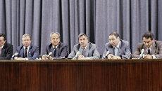 А.И. Тизяков, В.А. Стародубцев, Б.К. Пуго, Г.И. Янаев, О.Д. Бакланов