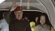 Уго Чавес вернулся на родину после второго этапа химиотерапии на Кубе