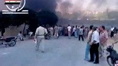 Столкновения правительственных сил и противников президента Башара Асада в сирийском городе Хама