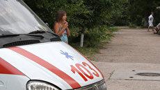 Скорая помощь на территории больницы в Крыму. Архивное фото