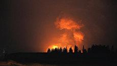 Взрывы и пожар на артиллерийском арсенале в Удмуртии