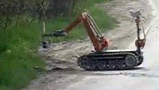 Самодельную бомбу в Нальчике обезвредили с помощью робота-сапера
