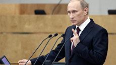 Отчет Владимира Путина о работе правительства в 2010 году