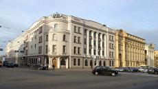Здание МВД и КГБ  Белоруссии на пересечении улицы Городской вал и проспекта Независимости в Минске