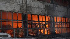 Пожар на складе в Перми