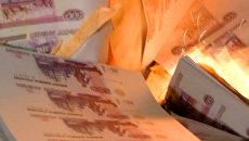 Сто миллионов фальшивых рублей сгорело в печи фанерного комбината Уфы
