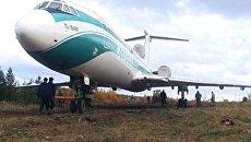 Аварийно севший в Ижме самолет Ту-154 выкатили из леса