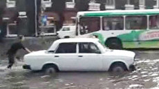 Ливень в Пскове