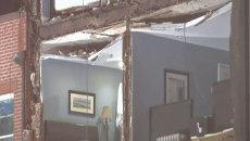 Ураган Сэнди сломал подъемный кран оставил без стен квартиры в США