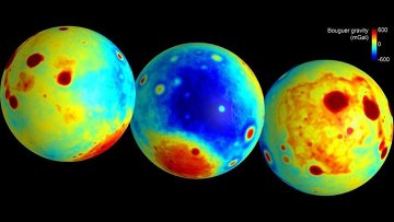 Гравитационная карта Луны, составленная зондами GRAIL