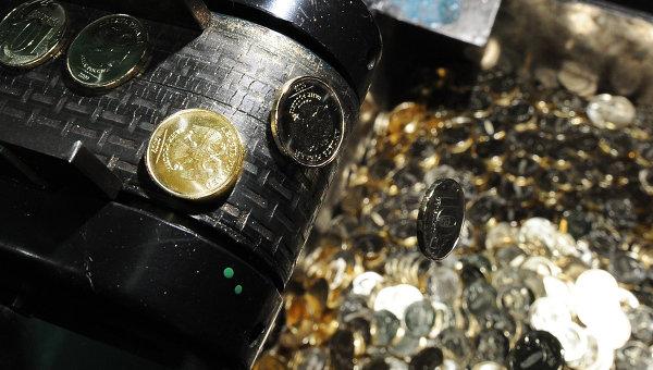 Чеканка монет на Московском монетном дворе. Архивное фото