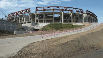 Строящийся стадион Зенит-Арена в Санкт-Петербурге
