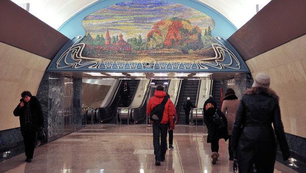 Выход со станции Марьина роща Люблинской линии московского метрополитена. Архивное фото