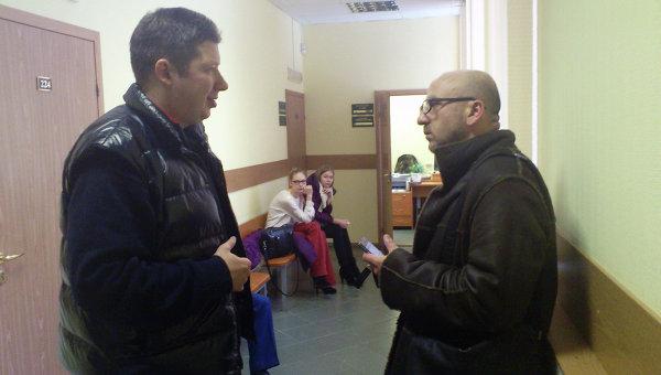 Бизнесмен Алексей Козлов с одним из своих адвокатов Алхасом Абгаджава