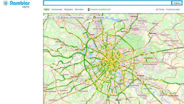 Скриншот сервиса Rambler Карты