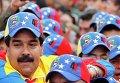 Вице-президент Венесуэлы Николас Мадуро принял участие в параде в честь 21-й годовщины попытки переворота Уго Чавеса в Каракасе