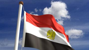 Египетский флаг. Архивное фото