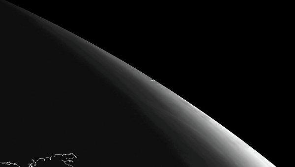 Уральский метеорит на космоснимке