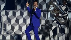 Робби Уильямс на церемонии вручения наград BRIT Awards-201