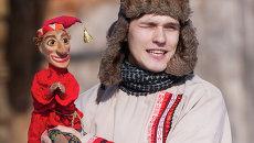 Празднование Масленицы в Санкт-Петербурге, архивное фото