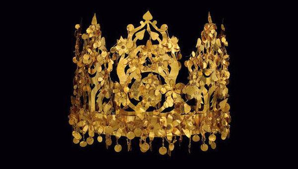 Экспонат афганской выставки Золото Бактрии