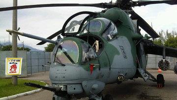 Вертолет Ми-35М на выставке LAAD-2013 в Бразилии