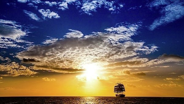 Закат в Порт-Луи островной республики Маврикий. Архивное фото