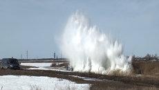 Авиаразведку с подрывом льда провели в Новосибирской области