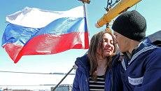 Выход в плавание учебного судна Крузенштерн