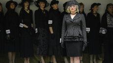 Дефиле траурной моды в рамках форума похоронной отрасли в Новосибирске