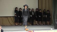 Дефиле траурных платьев в Новосибирске: смерть - это торжество